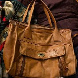 Fossil Bags - Brown/tan fossil bag